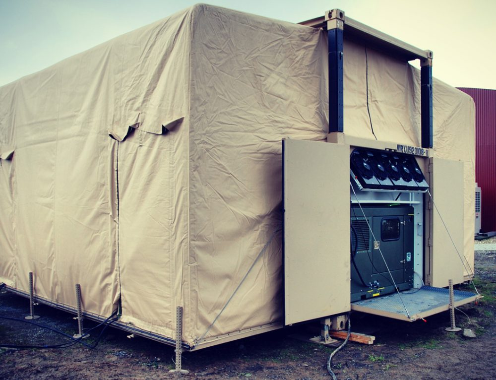 Military Command Post EHMECC Expandable Container Shelter