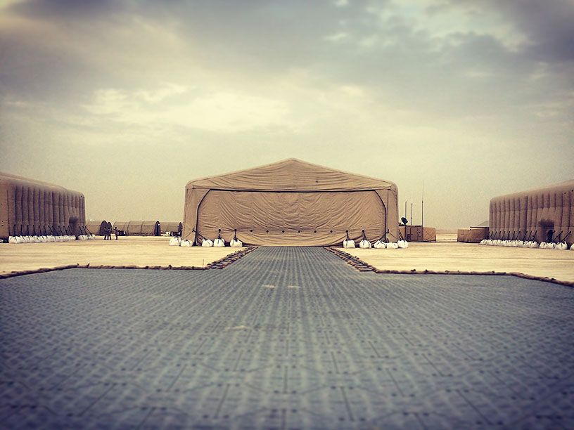 Inflatable Military Aircraft Hangar